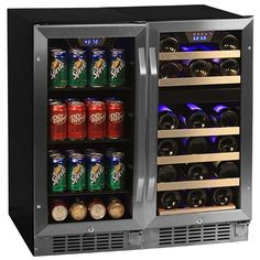 Store all of your favorite beverages in the EdgeStar 26 Bottle + 80 Can Side-by-Side Wine & Beverage Center (CWBV8026)....
