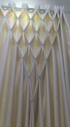 Smocking for curtains Bohemian Curtains, Home Curtains, Hanging Curtains, Bohemian Decor, Window Curtains, Macrame Curtain, Beaded Curtains, Rideaux Design, Decoration Evenementielle