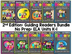 HOT OFF THE PRESS!  Guiding Readers: SET TWO YEAR LONG BUNDLE NO PREP ELA Unit! Reading Units SET TWO No Prep Print and Go Lesson Planning made easy! Reading, Phonics, Comprehension, Word Work and More!  Set one of these reading units were a best seller!  This is the Second Set of Guiding Readers. We had districts requesting a 2nd edition so both their K and 1st grade teachers can use them.  NOTE: This isn't a packet of worksheets. These are actual Lessons that guide you through the process…