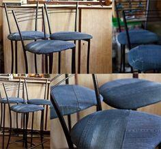 Sillas tapizadas en jean
