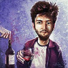 Diese fantastische Karikatur von @karlkujau möchte ich euch auf keinen Fall vor vorenthalten. Sie zeigt mich wie gewohnt beim Wein trinken und auch der Finger von @meinemelange ist zu sehen wie er frivol in die Weinflasche wandert. Danke dafür! Schaut auf jeden Fall bei dem Account von @karlkujau vorbei denn dort gibt es noch viele tolle andere Zeichnungen zu bewundern.