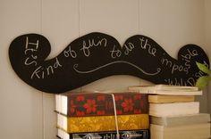 Moustache Chalkboard