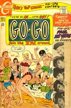 Go-Go Comic Book (1960s) Featuring Paul Revere and the Raiders!