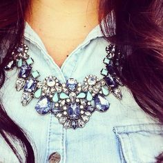 Chambray and jewels