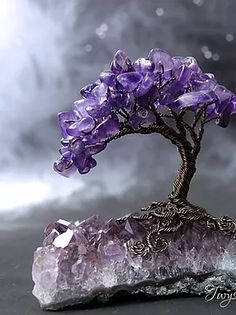 Wire Tree Sculpture, Sculptures, Wire Wrapped Jewelry, Wire Jewelry, Fairy Coloring Pages, Crystal Tree, Wire Trees, Handmade Beads, Beads And Wire