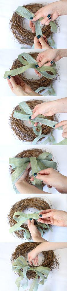 Tying A Bow {wreath idea}