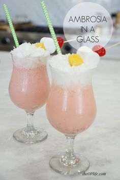 Ambrosia in a Glass.
