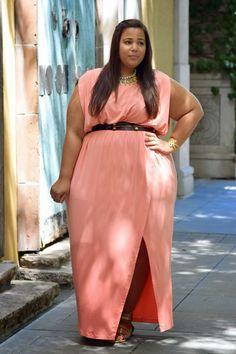 Plus size grecian maxi dress this versatile plus size dress Curvy Fashion Summer, Curvy Girl Fashion, Plus Size Fashion, Womens Fashion, Plus Size Cocktail Dresses, Plus Size Dresses, Plus Size Outfits, Afro, Garner Style