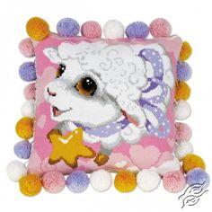 Lamb Cushion - Cross Stitch Kits by RIOLIS - 1452