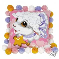 Lamb Cushion - Cross Stitch Kits by RIOLIS - 1452