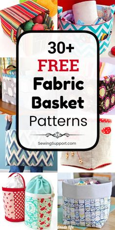 30 free fabric basket patterns tutorials and diy sewing projects. Make square round large and small designs fabric baskets with and without handles and nesting styles. Sewing Hacks, Sewing Tutorials, Sewing Crafts, Sewing Tips, Bag Tutorials, Baby Set, Sewing Patterns Free, Free Sewing, Bag Patterns