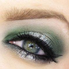 Υπέροχο πράσινο μακιγιάζ