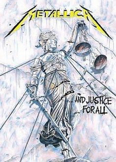 The only thing soft about this poster is the material it was made from. This 30 X 40 Metallica fabric poster features album artwork from their fourth studio album, .And Justice For All. Arte Heavy Metal, Heavy Metal Music, Heavy Metal Bands, James Hetfield, Metallica Albums, Metallica Art, Metallica Tattoo, Hard Rock, Rock Internacional