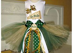 University of South Florida Tutu Set My little baby girl will wear this...regardless of what her daddy has to say about it