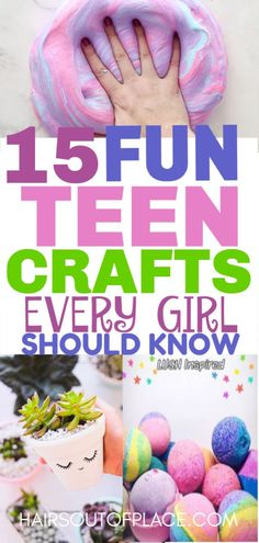 15 DIY crafts for teen girls that are also great crafts to make and sell or that make easy DIY gifts! #teens #teencrafts #easydiy #diygifts #diy #crafts #craftstomakeandsell