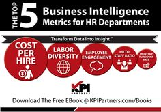 The Top 5 Business Intelligence Metrics For HR Departments... http://www.kpipartners.com/ebook-the-top-5-bi-metrics-for-hr/