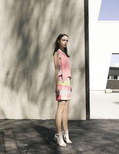 Dagmar Lutha Woven Dress Colourful Print