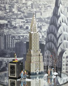 """Department 56 Christmas in the City """"The Chrysler Building"""" #4030342  © TS 405 Lexington Owner 2013.  All Rights Reserved.   The image of the CHRYSLER BUILDING, and the marks CHRYSLER BUILDING and CHRYSLER CENTER are registered or unregistered marks of Tishman Speyer Properties or its affiliates.  Used Under License. www.department56.com shop.department56.com"""
