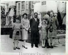 The first President of the Republic of Ghana Osagyefo Dr Kwame Nkrumah with the Royal family.