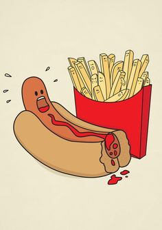 Fast Food Massacre Art Print