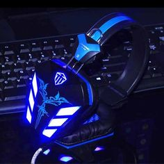 Gaming Headphone USB 3.5 mm Headset Earphone with Microphone Noise Canceling LED Light for PC Gamer - Free Shipping