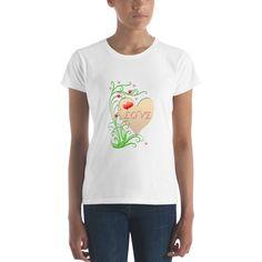 Love Women's short sleeve t-shirt base trend Anvil Tshirt 880 Women's Shirt Funny Womens Tee Gift For Her, print tshirt, heart t-shirt Knitting Wool, Gifts For Her, T Shirts For Women, Trending Outfits, Tees, Mens Tops, Cotton, Sleeve, Funny