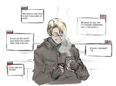 Rusame Texting, Hetalia
