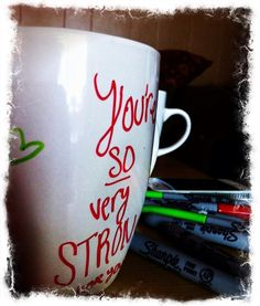 HOW to personalize your mug!