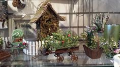 Fun planters and birdhouses for you!