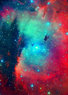 astronomy, outer space, space, universe, stars, nebulas  How cool would this be to be a design on a child's wall??
