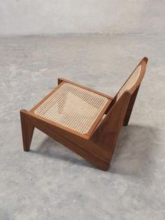Mid-Century Chandigarh style Pierre Jeanneret Kangaroo Chair at Phantom Hands House Furniture Design, Home Decor Furniture, Chair Design, Cane Furniture, Handmade Furniture, Unique Furniture, Pool Lounge Chairs, Design Light, Low Chair