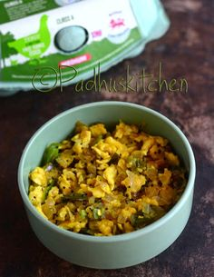 Egg Poriyal is a very easy and simple stir fry made with eggs. It goes well with rice, bread and chapati. You can have it for breakfast, lunch, as evening snack, in between meals when you feel hungry or for dinner. It can be used as a stuffing for chapati and sandwiches.It is simple to prepare, perfect for all the bachelors or for that matter anyone who wants something appetizing and have less time on hand.