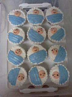Baby Shower Cupcakes - Baby Boy Shower Cupcakes