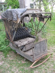 Remnants of a horse-drawn carriage.
