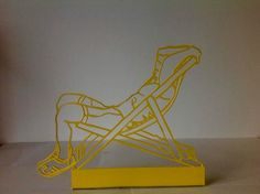"""""""Armchair"""" Artist: ROMAN LOKATI Steal sculptures - Part of the 'Lost in the City' series 40cms"""