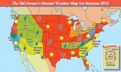 Get the 2015 Summer Weather Forecast from The Old Farmer's Almanac for the US.