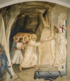 Fra Angelico, La Descente aux limbes, 1440-1443, fresque, 203 x 192 cm, Florence, Museo di San Marco.