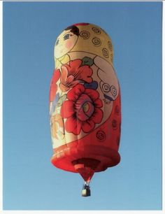 Matryoshka balloon. Ride in a Hot Air Balloon! This one would be PERFECT! :D
