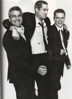 George Clooney, Brad Pitt, Mat Damon.