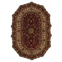 Home Decorators Collection Masterpiece Red 7 ft. 6 in. x 9 ft. 6 in. Oval Area Rug - 3713975110 at The Home Depot