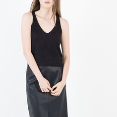 Modern Citizen   Rory Sleeveless Cropped Sweater (Black) $68