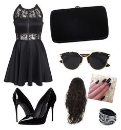 """Untitled #14"" by andraconstantinescu on Polyvore featuring AX Paris, Dolce&Gabbana, Sergio Rossi and Christian Dior"