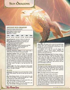 Tagged with dragon, dnd, dungeons and dragons, dndhomebrew; (D&D) Sun Dragons: Harness unrelenting radiant power with these star-themed dragons Dungeons And Dragons Classes, Dungeons And Dragons Characters, Dungeons And Dragons Homebrew, Dungeons And Dragons Rules, Mythical Creatures Art, Mythological Creatures, Fantasy Dragon, Fantasy Rpg, Dnd Stories