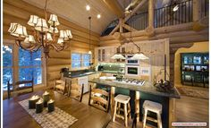 Rustic Kitchen - Summit Handcrafted Log Homes