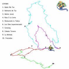 Mapa y entorno, Casas Rurales Batán Río Tus