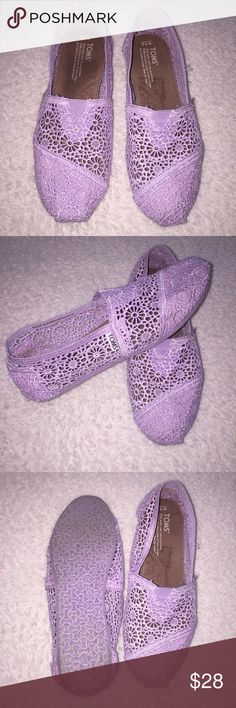 "Lavender ""Lace"" Toms Worn Once. Beautiful Color. Like New TOMS Shoes Flats & Loafers"