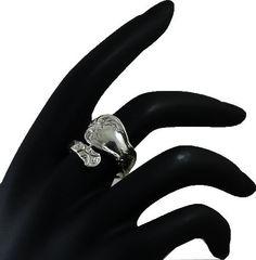 Spoon Adjusable 925 Sterling Silver Ring PLRJK by jewelkingthai