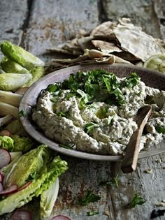 Jamie's simple aubergine dip recipe is bursting with flavours, from chilli…