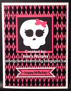 Along Came Stamping - Stampin' Up! - Itty Bitty Banners - Monster High Card