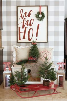 Are you looking for ideas for farmhouse christmas decor? Check out the post right here for cool farmhouse christmas decor pictures. This amazing farmhouse christmas decor ideas looks totally amazing. Diy Christmas Lights, Indoor Christmas Decorations, Christmas Signs, Outdoor Christmas, Christmas Home, Christmas Holidays, Christmas Crafts, Holiday Decor, Family Holiday